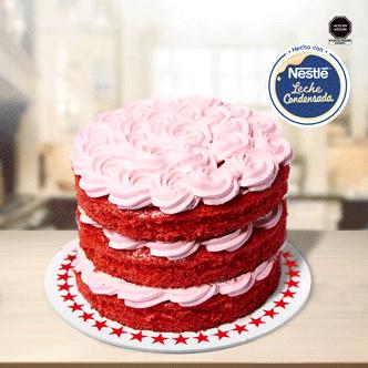 Nuestra NUEVA Mini Torta Bicentenario. Deliciosa Red Velvet con un crema a base de la riquísima leche condensada Nestlé. Celebra Fiestas Patrias llenándote de alegría con nuestras mini tortas.