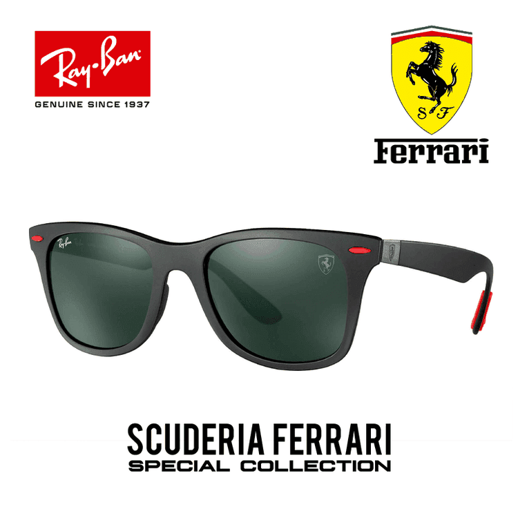 Estado: DISPONIBLE A PEDIDOModelo: RB4195M Ferrari CollectionEstilo: WayfarerTalla: 52mmColor del Marco: NegroColor de Lunas: OscurasProtección: 100% UV400 Origen: Made in ItalyContenido del Paquete: Certificado estuche, pañuelo de lentes,Caja Original, Catalogo Never Hide, Bolso Never Hide.    :::ENVIOS GRATIS A TODO EL PERU:::